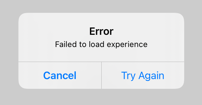 Error with Retry Alert Dialog