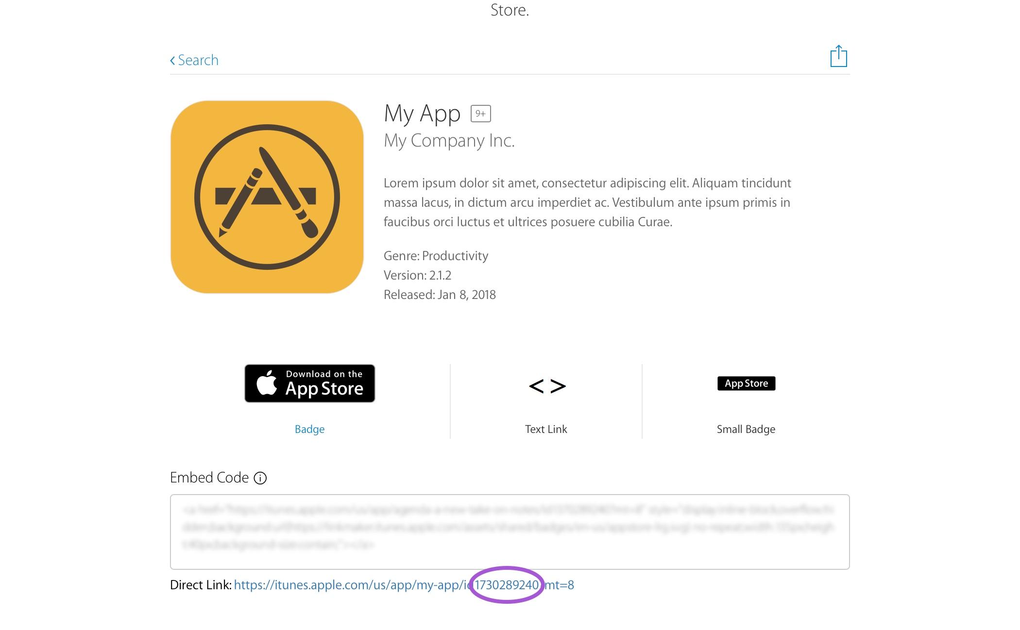 App Store ID